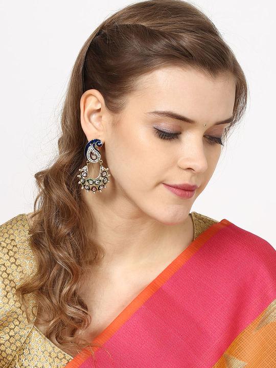 Aujjessa Drop Earring with Enamel Work