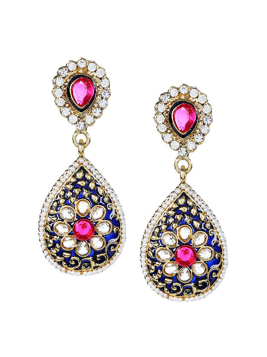 Aujjessa  Blue Drop Earring