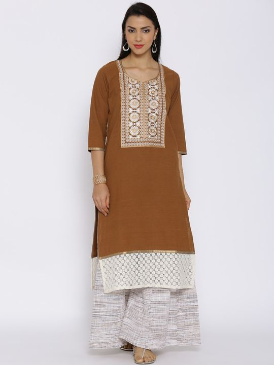 Aujjessa Copper Khadi Plazzao Suit Set