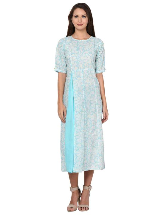 Aujjessa Fit & Flare Light Blue Dress