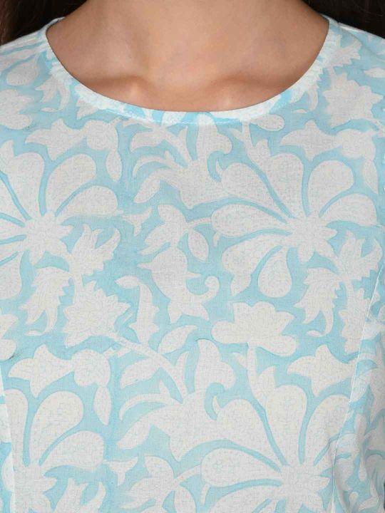 Aujjessa Fit & Flare Light Blue Dress
