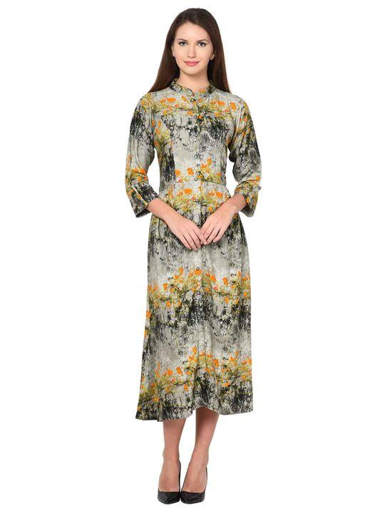 Aujjessa Viscose Gathered Dress