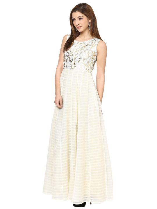 Aujjessa White Gauze Gown
