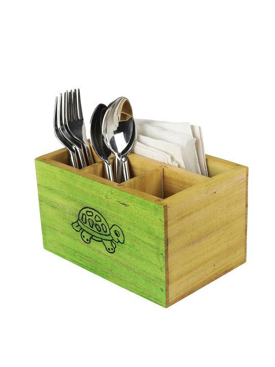 Beech Wood Multipurpose Cutlery Organizer Box From Tiny