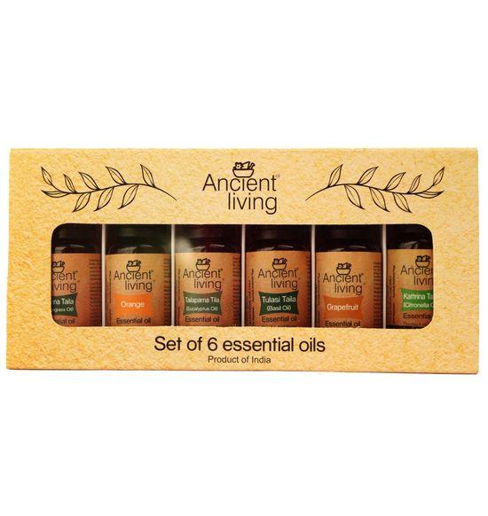 Set of 6 Organic Essential oils