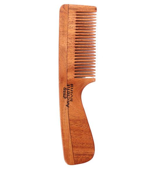Neem Wood Comb (Handle model)