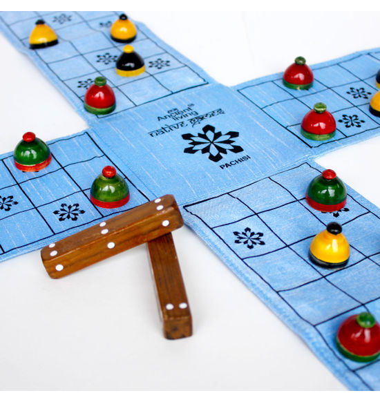 Pachisi / Ludo / Indian ludo / chausar / Indian board game (Crafted in raw  Silk)