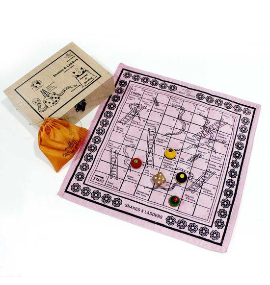 Snakes and Ladders / vaikuntapali / Moksha Pata / Parama Padam Board game (  Crafted in raw Silk)