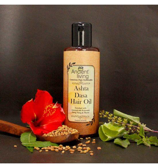 51d9edbb40 Organic Ashta Dasa Hair Oil -100ml   Al049   Ancient Living