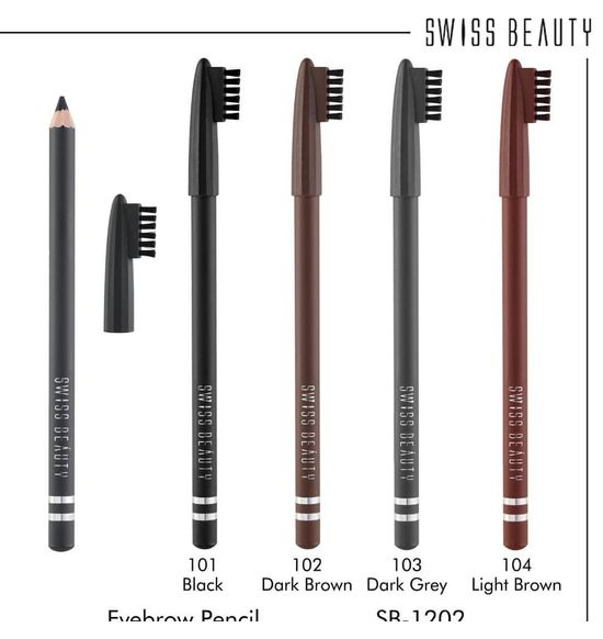 Swiss Beauty Eye Brow Pencil Sb 1202 Dark Grey 103