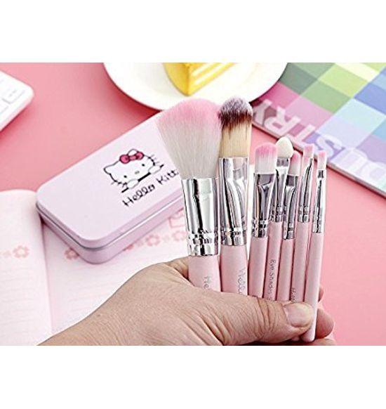 5d9e0fd9e Hello Kitty Complete Makeup Mini Brush Kit With A Storage Box - Set Of 7 Pcs