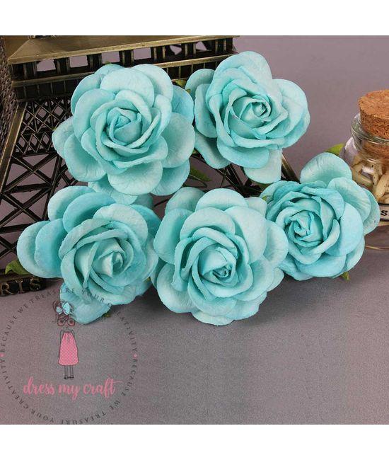 Mulberry Curved Roses - Sky Blue | Dmcfl5808e | Dress My Craft