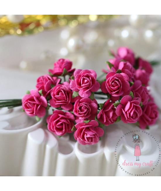 Micro mini roses bright pink dmcfl7469e dress my craft micro mini roses bright pink mightylinksfo