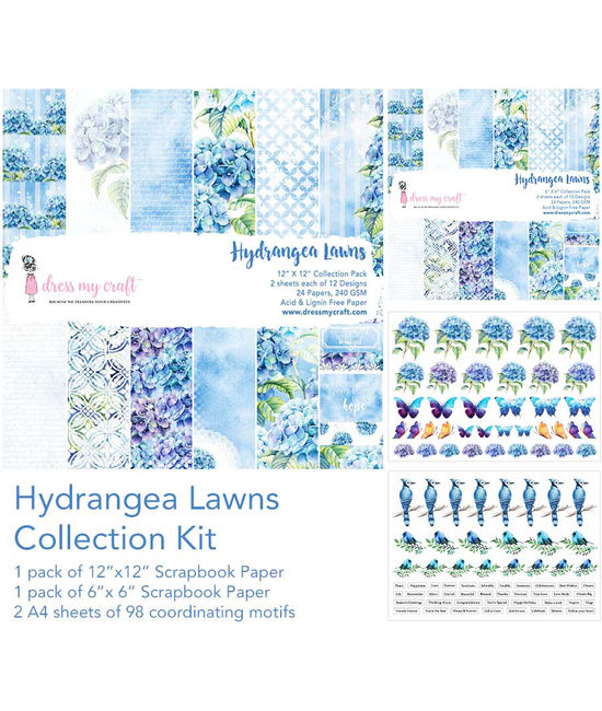 Hydrangea Lawn Collection Kit Dmcp1508 Dress My Craft