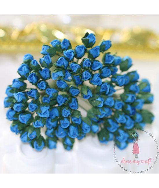 Micro Mini Rose Buds - Blue | Dmcfl7370e | Dress My Craft