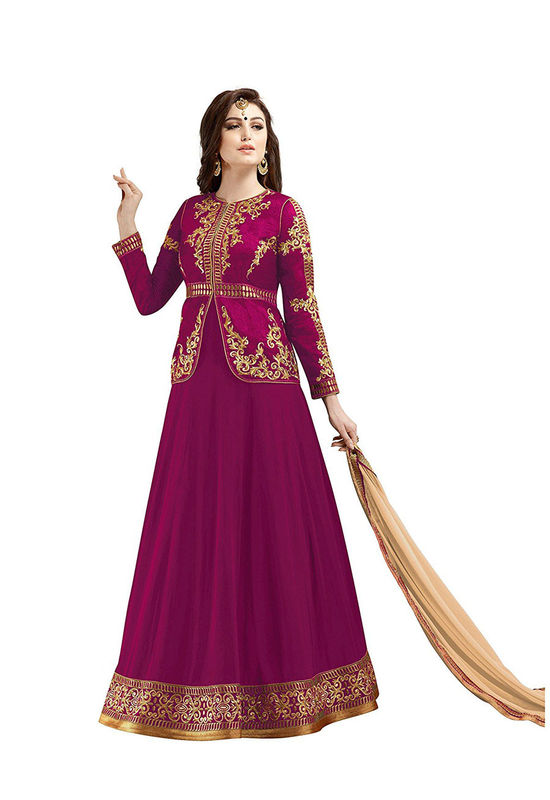 Dark Pink Long Anarkali Suit 18