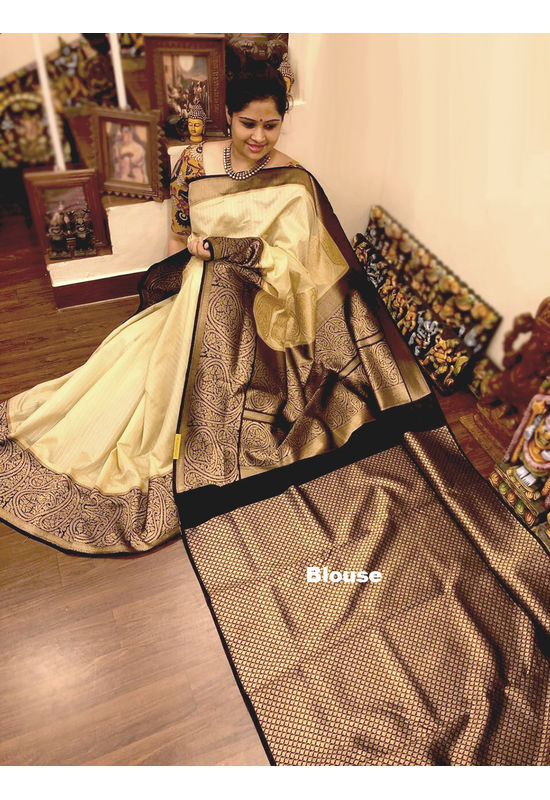 Dee's Alley  Banarasi Cotton Silk Saree  AJ 50