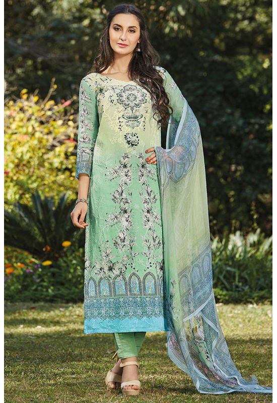 Casual Wear Straight Cotton Salwar Suit_10