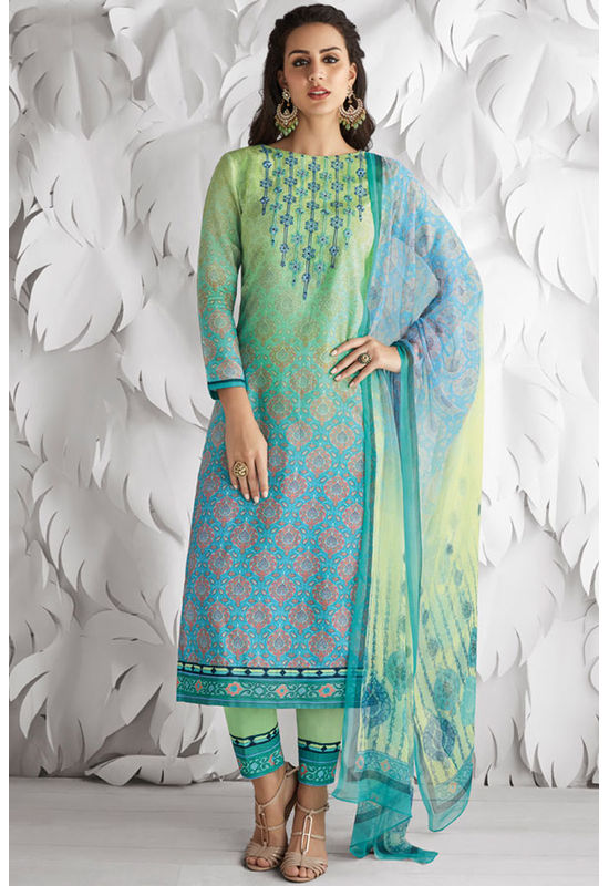 Casual Wear Straight Cotton Salwar Suit_21