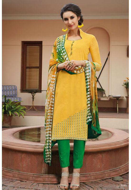 Casual Wear Straight Cotton Salwar Suit_28