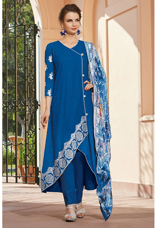 Casual Wear Straight Cotton Salwar Suit_29