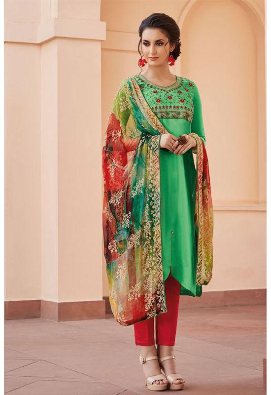 Casual Wear Straight Cotton Salwar Suit_30