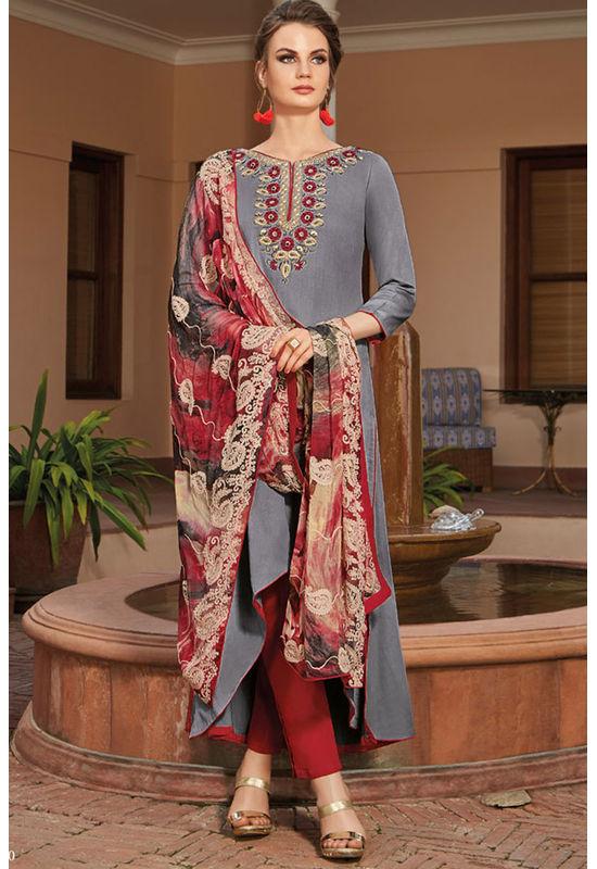 Casual Wear Straight Cotton Salwar Suit_31