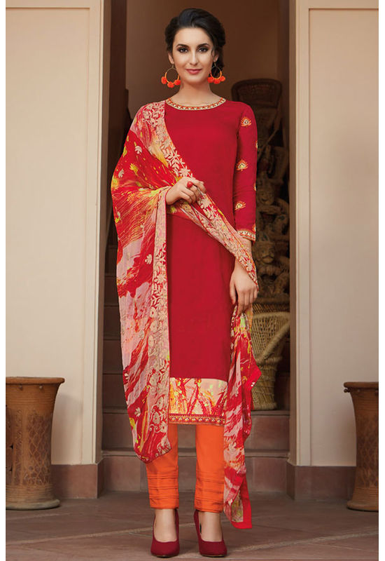 Casual Wear Straight Cotton Salwar Suit_32