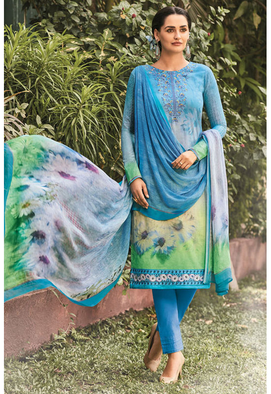 Casual Wear Straight Cotton Salwar Suit_34