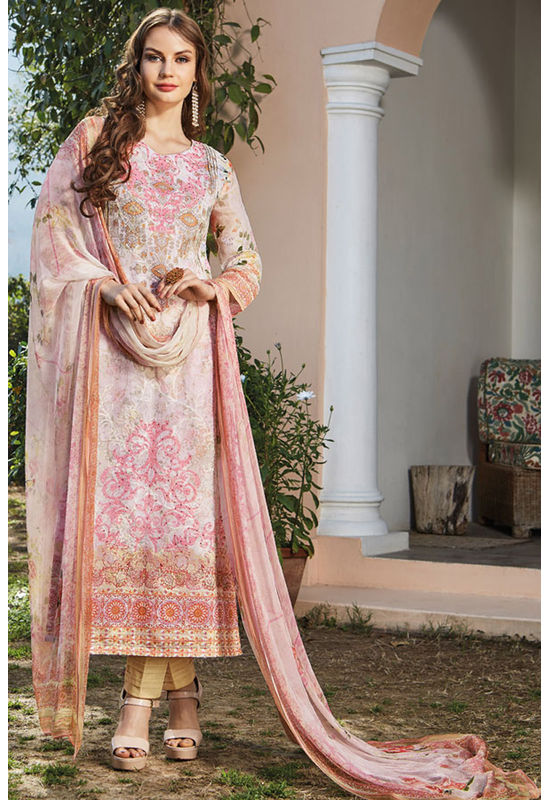 Casual Wear Straight Cotton Salwar Suit_4
