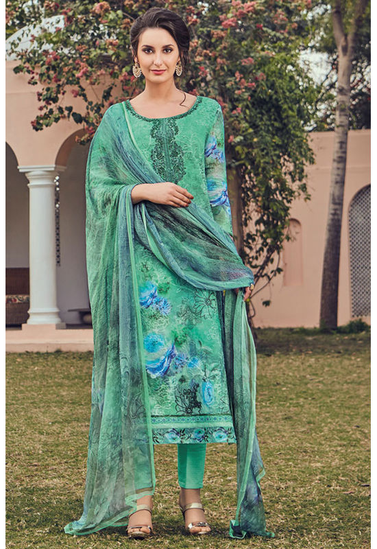 Casual Wear Straight Cotton Salwar Suit_44