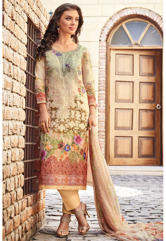 Casual Wear Straight Cotton Salwar Suit_47