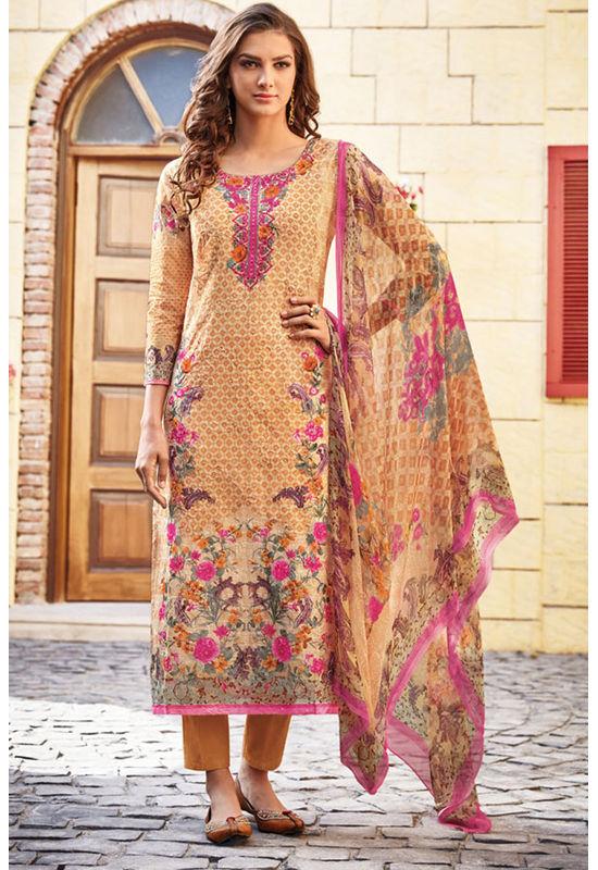 Casual Wear Straight Cotton Salwar Suit_50