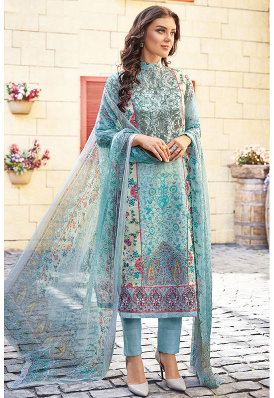 Casual Wear Straight Cotton Salwar Suit_53
