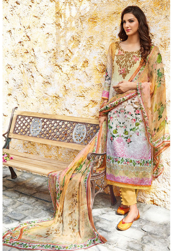 Casual Wear Straight Cotton Salwar Suit_55