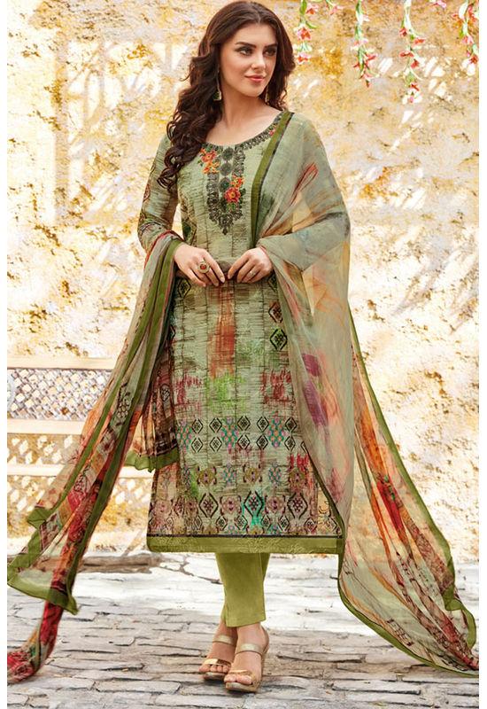 Casual Wear Straight Cotton Salwar Suit_57