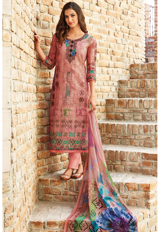 Casual Wear Straight Cotton Salwar Suit_58