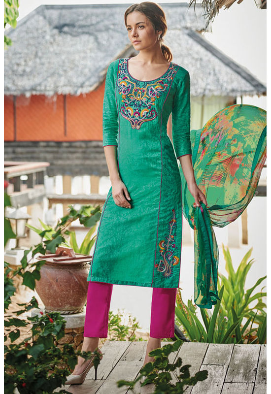 Casual Wear Straight Cotton Salwar Suit_59