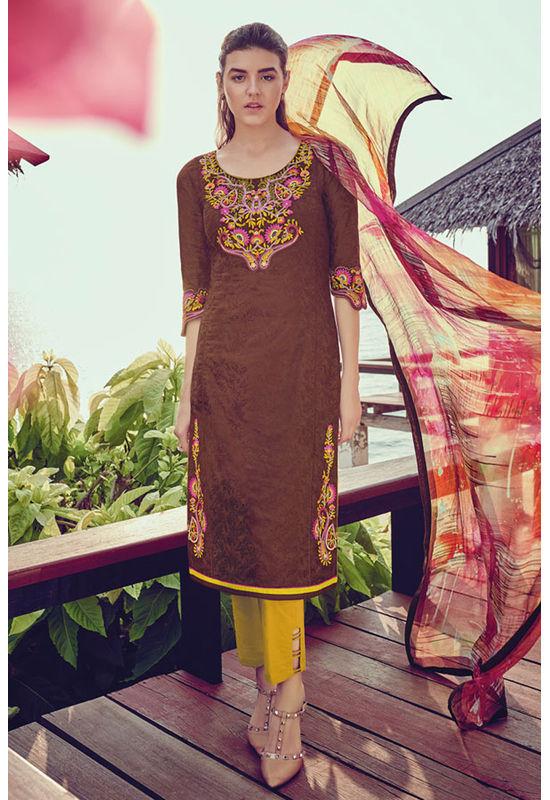 Casual Wear Straight Cotton Salwar Suit_60