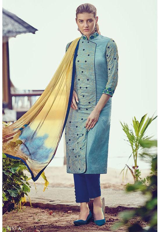 Casual Wear Straight Cotton Salwar Suit_61