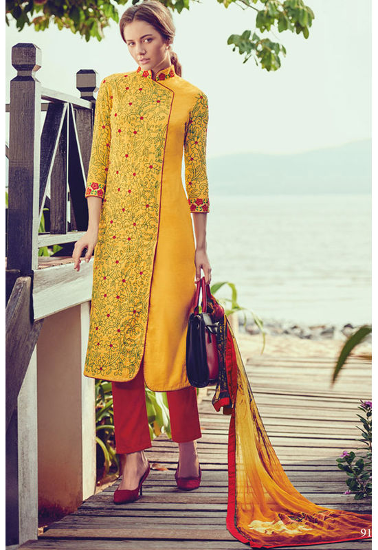 Casual Wear Straight Cotton Salwar Suit_62