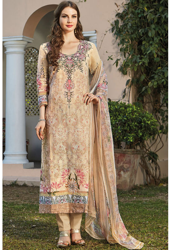 Casual Wear Straight Cotton Salwar Suit_9