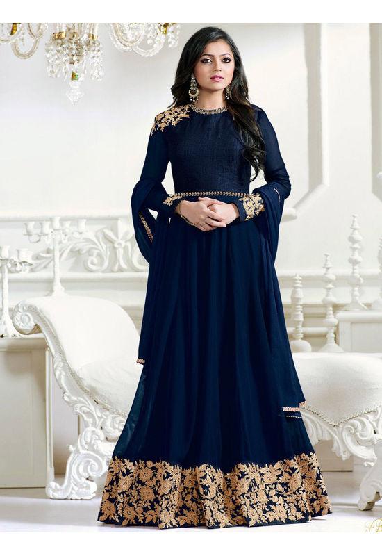 Drashti Dhami Embroidered Long Anarkali Suit_13