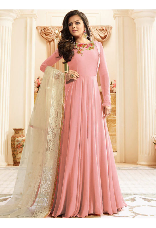 Drashti Dhami Embroidered Long Anarkali Suit_14