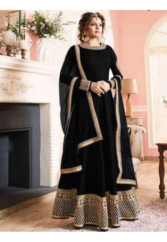 Drashti Dhami Embroidered Long Anarkali Suit_2