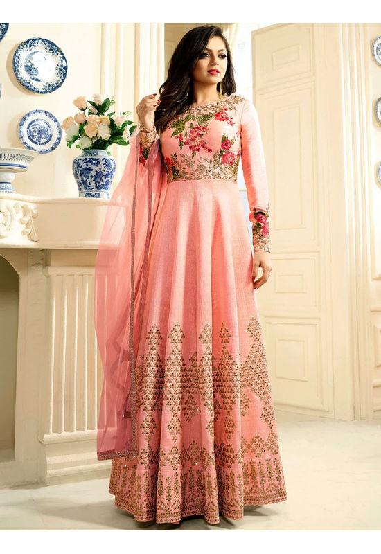 Drashti Dhami Embroidered Long Anarkali Suit_21
