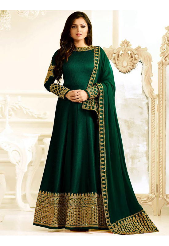 Drashti Dhami Embroidered Long Anarkali Suit_22