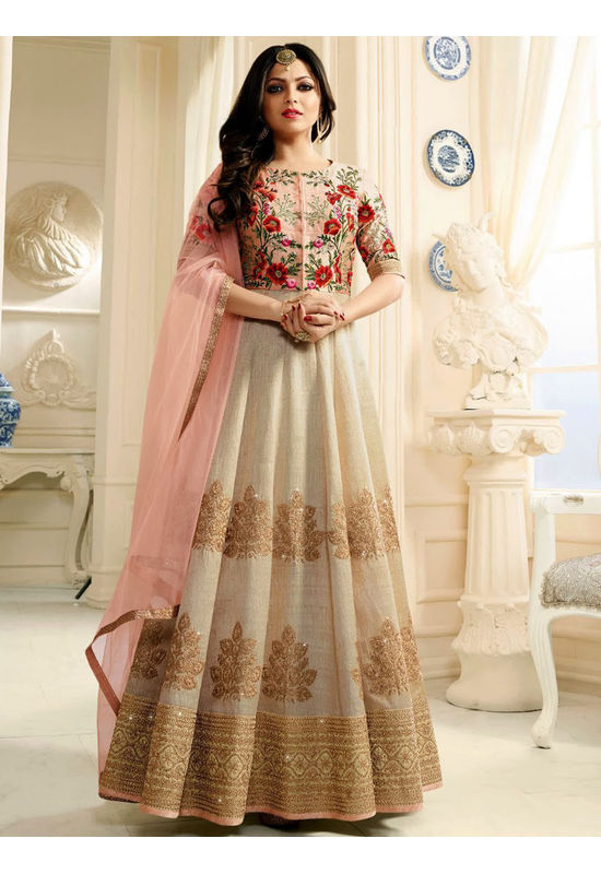 Drashti Dhami Embroidered Long Anarkali Suit_24