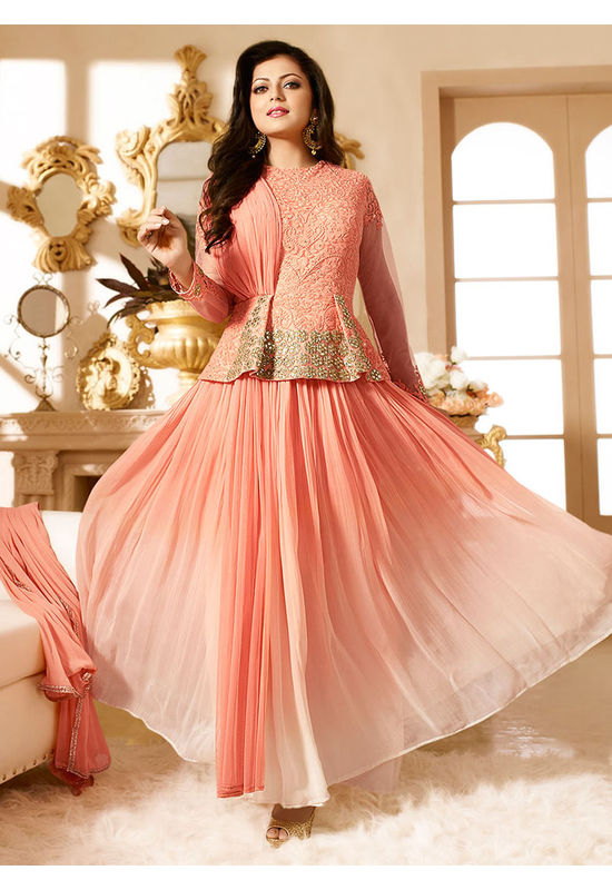 Drashti Dhami Embroidered Long Anarkali Suit_27