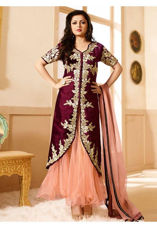 Drashti Dhami Embroidered Long Anarkali Suit_28